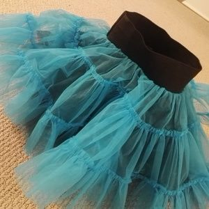 Dresses & Skirts - Reversible tutu one size, lovely blue and black!